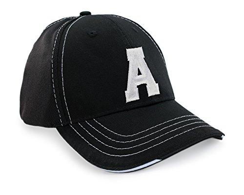 Morefaz HOMME FEMME Bonnet Chapeau Casquette Snapback Baseball Cap Mesh respirante Alphabet letters A-Z Snap Back