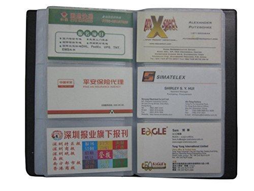 El libro para tarjetas de nombre de piel Clairty es atractivo, elegante, resistente y duradero. Es muy útil para tu negocio. Para buscar calidad, para disfrutar del trabajo. 50 hojas; 3 bolsillos cada hoja, total 150 bolsillos, máx. 300 tarjetas. Ide...
