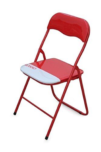 Galileo 2179482 sedia pieghevole, rosso