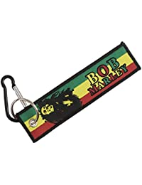 Techpro Premium Quality Cloth Locking Keychain With Doublesided Bob Marley Design