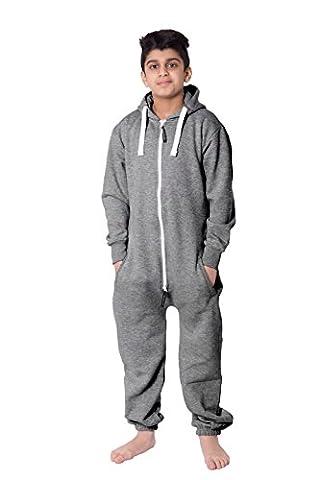 Plaine Capuche Grenouillères une pièce Pyjamas Costume pour les garçons Unisexe Enfants Filles