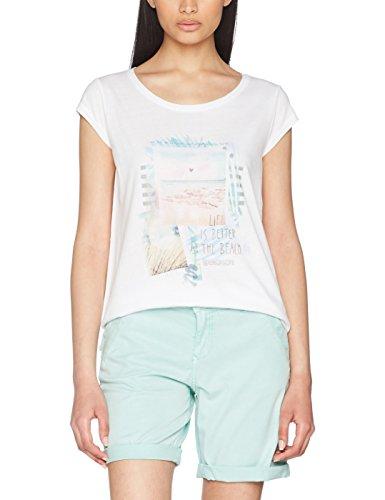 s.Oliver Damen T-Shirt 5706325223, Weiß (White Placed Print 01D1), 38