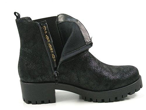 Donne Tamerici Nero 033 39 Stivali Caviglia 1 25786 xYqa44wST