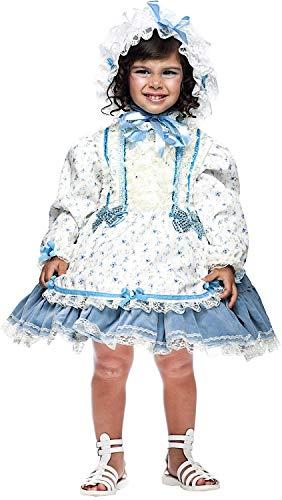 Dell'800 Kostüm - Carnevale Venizano CAV50735-2 - Kleinkindkostüm BAMBOLA Dell'800 - Alter: 0-3 Jahre - Größe: 2