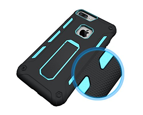 AddGuan Apple iPhone 6/6S Case,Armatura 2-in-1 Coperture protettive Case,Funzione Stent Adatto PerApple iPhone 6/6S Case (Nero) Blu