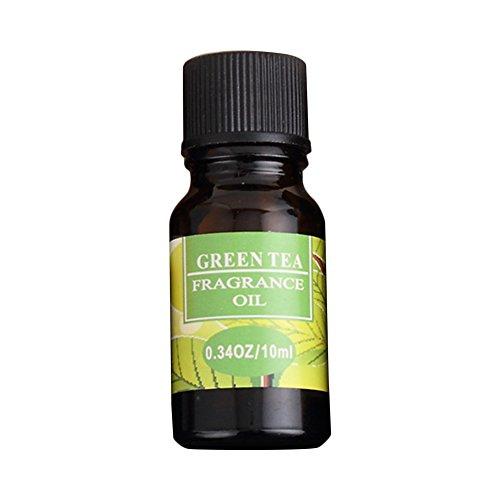 10ml ätherische Öle - natürliche Duft-Pflanze wasserlösliche duftenden Öl Kopfschmerzen Relief Stress abzubauen (grüner Tee) (Tee Rose-muster)