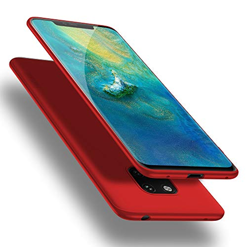 X-level Huawei Mate 20 Pro Hülle, [Guadian Serie] Huawei Mate 20 RS Hülle, Soft Flex Silikon Premium TPU Handyhülle Schutzhülle für Huawei Mate20 Pro / Mate20 RS Case Cover - Rot