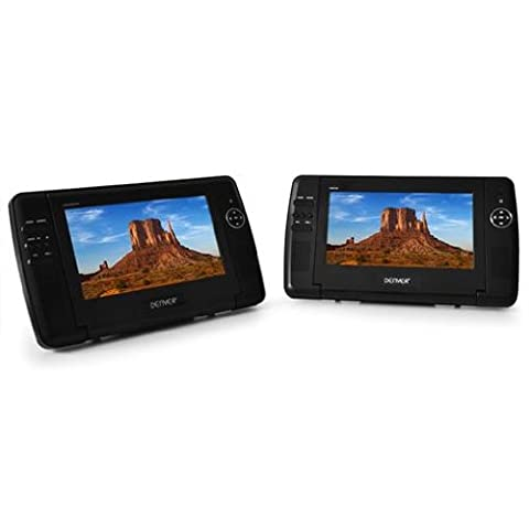 Denver MTW-735TWIN Monitorset mit DVD-Player (starrer Monitor, 16:9) (Bmw Ipod Video)