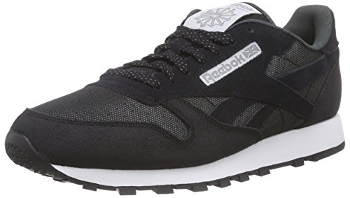 Reebok Cl Leather Reflect Herren Laufschuhe Schwarz (Black/Steel/White)