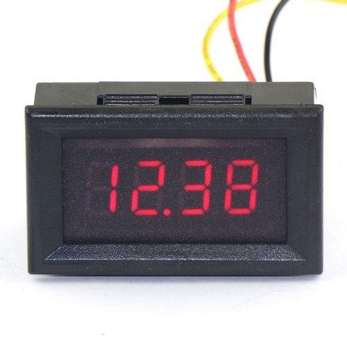 """DROK® 0.36 """"Digital Voltmeter DC 0-33V Spannungsprüfer 4-stellige LED-Anzeige rot-Panel-Volt-Monitor Spannungs Gadget Test-Tool mit 3 Leitungen messen Einfache Installation Geeignet für Auto / Motorrad-Batterie"""