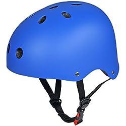 CoastaCloud - Casco De Ciclismo Unisex Para Bicicleta Esquí Patinaje Deportes Al Aire Libre Azul S