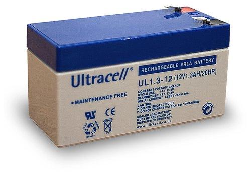Wentronic Blei-Akku (Ultracell) 12 V, 1,3 Ah (Faston 187-4,8mm)