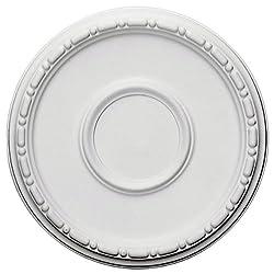 Ekena Millwork CM16MD 16 1/2-Inch OD x 5 1/2-Inch ID x 1 1/2-Inch Medea Ceiling Medallion