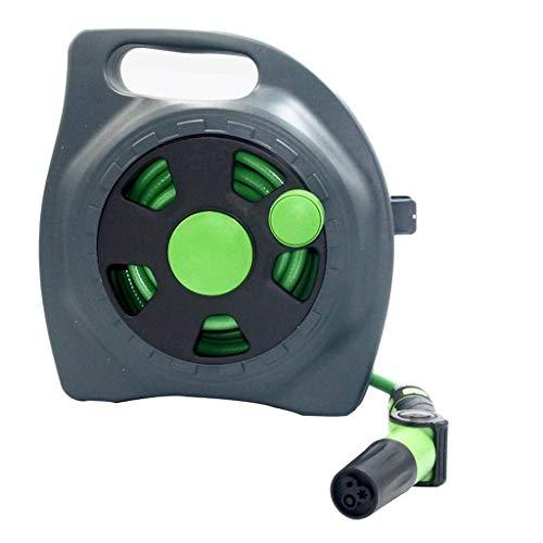 TeasyDay Schlauchaufroller Wandspeicherwagen,Gartenbewässerungswickler 2019 NEU, für Autowaschanlage Bewässerung Gartenbewässerung Haustier Baden Reinigung zu Hause (Grün)
