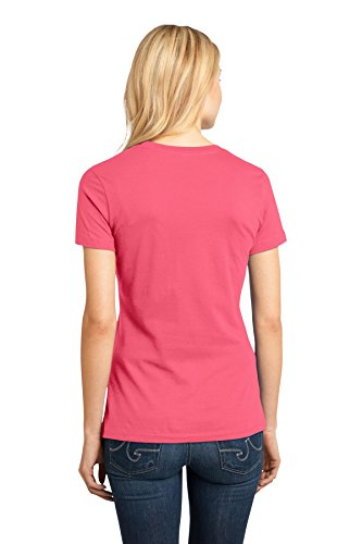 District Made Damen Asymmetrischer T-Shirt Rot - Korallenrot