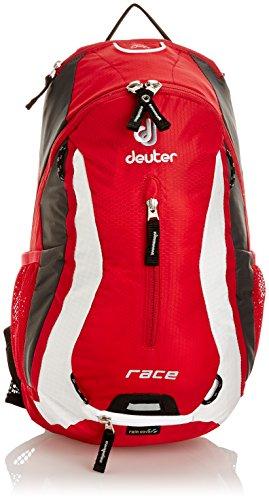 Deuter Race Mochila para Ciclismo, Unisex adulto, Rojo (Fire / White), 10 l