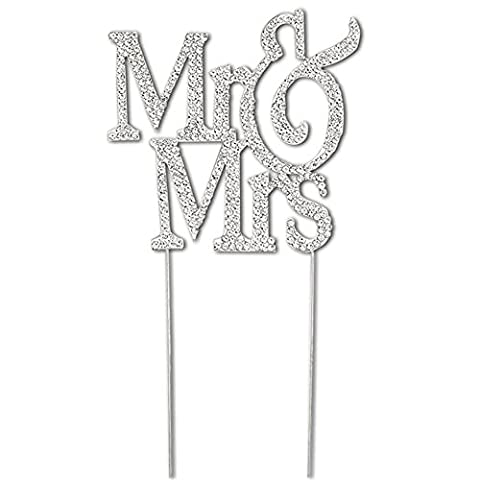 PuTwo Wedding Cake Toppers Cake Decorating with Crystals Monogram Silhouette