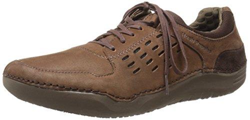 Hush Puppies Mens Hinton Method Casual Sneaker Brown Leather