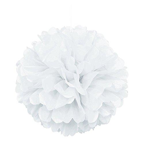 B-Shine Seidenpapier Pompoms Pompons 10er 25cm Dekorpapier schöne Dekor für Geburtstag Babyshower Feier Party Wohnungdeko (weiß, 10)