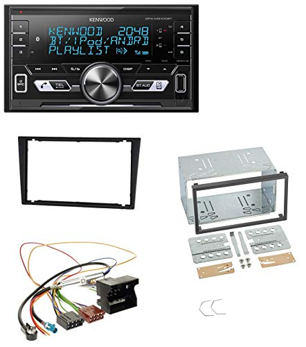 Kenwood DPX-M3100BT 2DIN AUX MP3 Bluetooth USB Autoradio für Opel Corsa C Signum Vectra B ab 2005 Charcoal