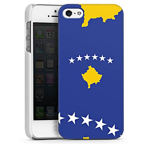 Apple iPhone 4 Housse Étui Silicone Coque Protection Kosovo Drapeau Drapeau CasDur blanc