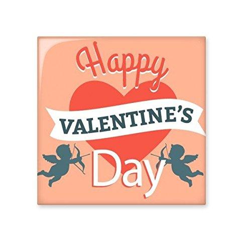 DIYthinker Happy Valentinstag rotes Herz Blauer Engel Banner Illustration Muster Keramik Bisque Fliesen für Dekorieren Badezimmer-Dekor Küche Keramische Fliesen Wandfliesen L -