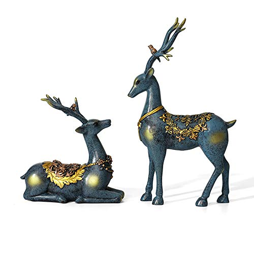 MMUY-1 Rehkitz Ornament Garten Lockvogel Tier Statue,