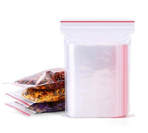 selbstdichtende PE PE Beutel Wrap mit Klebeverschluss Poly Treat Taschen Lebensmittel Lagerung Verpackung Beutel (12cm x 17cm/5inch x 7inch) ()