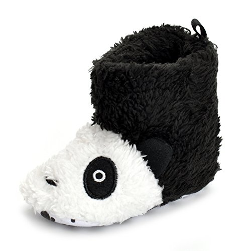 ESTAMICO Toddler Baby Boys Girls Winter Panda Slipper Shoes Warm Fleece Prewalker Boots