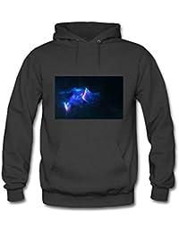Men's Cat Galaxy Hoodie Astro Space Animal Face Cosmic Hooded Sweatshirt