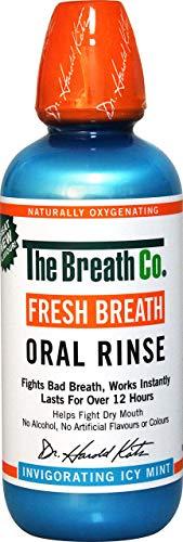 The Breath Co Frischen Atem Oral Spülung - 500 ml, Eisige Minze - Frischen Mund Oral Spray