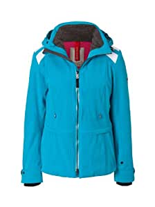 Bogner Fire + Ice Gitta Veste de ski pour femme Bleu Aigue-marine Taille 34