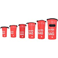 DonDon Bolsa Impermeable Bolsa para almacenar Tus Objetos de Valor Ideal para Practicar Kayak navegación Rafting Pesca natación Camping Senderismo Rojo 30 Liter