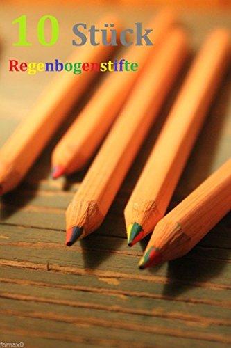 10x Regenbogenstift 4-Farben Buntstift Malen JUMBO Neu Regenbogenstifte Stift
