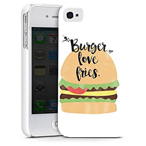 Apple iPhone X Silikon Hülle Case Schutzhülle Burger Fastfood Essen Premium Case glänzend