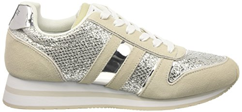 Versace Ee0vpbsa1_e75576, Sneakers basses femme Argent