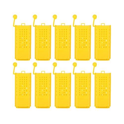 TOPINCN 10 STÜCKE Imkerei Aufzucht Tasse Kit Kunststoff Bee Königin Käfige Roller Transport Catcher Box Imker Imkereiausrüstung Werkzeug