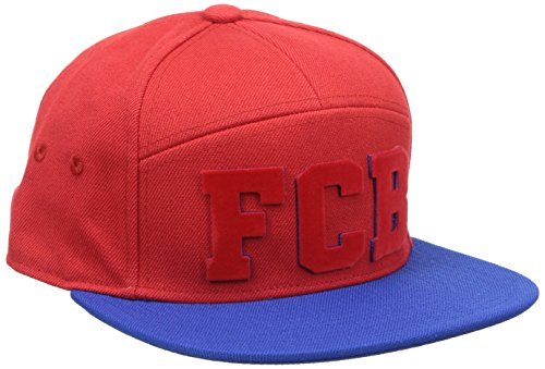 adidas Herren Kappe FCB Fitted, True Red/Collegiate Royal/Clear Grey, M