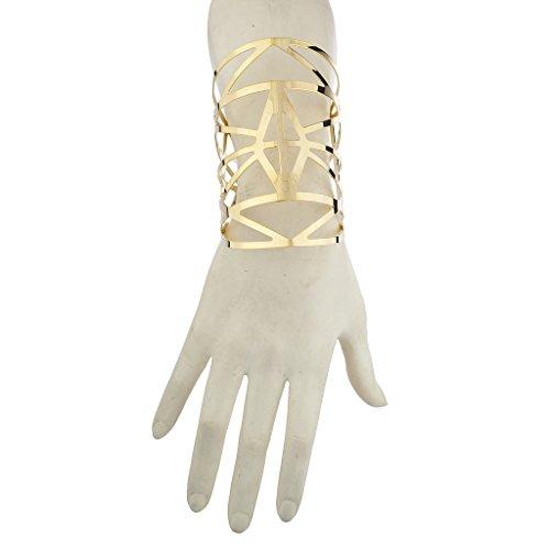 LUX Zubehör goldfarbenes Ausschnitt Azteken Geo Muster Arm Manschette (Armee Für Outfits Männer)