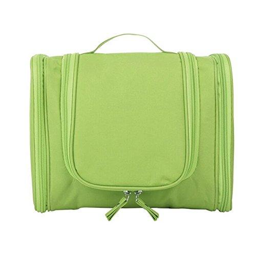 Mifusanahorn Portable Pendaison Voyage Trousse De Toilette Étanche Maquillage Organisateur Cosmétique Sac Poche Costume pour Femmes Garçons (Color : Green)