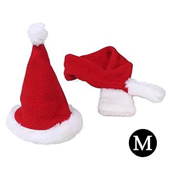 Mignon chapeau de Père Noël et écharpe costume de costume rouge de Noël habiller (Taille du cou M-Fit à 12,5