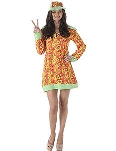 Karnival Costumes-Disfraz de Hippie para Mujer