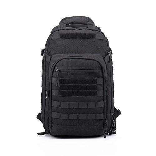 Imagen de yakeda® bolsa de hombro bolsos del alpinismo al aire libre equipado camuflaje táctico  de camping bolsa de viaje bolsas de viaje   militar 60l que acampa yendo trekking bolsa  a88034 negro