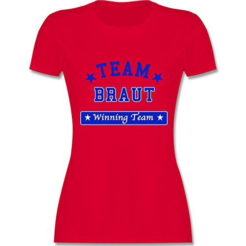 JGA Junggesellinnenabschied - Team Braut Winning Team - tailliertes Premium T-Shirt mit Rundhalsausschnitt für Damen Rot