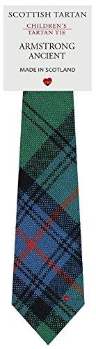 I Luv Ltd Garçon Tout Cravate en Laine Tissé et Fabriqué en Ecosse à Armstrong Ancient Tartan