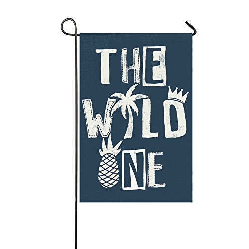 interestprint Creative Sommer Ananas Polyester Garten Flagge Haus Banner 30,5 x 45,7 cm, die WORLD ONE Fahne Deko für Hochzeit Party Yard Home Outdoor Decor