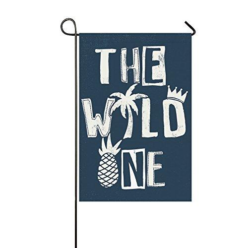 interestprint Creative Sommer Ananas Polyester Garten Flagge Haus Banner 30,5x 45,7cm, die WORLD ONE Fahne Deko für Hochzeit Party Yard Home Outdoor Decor