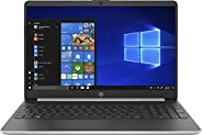 HP 15s-fq1001ne 15.6 inches LED Laptop (Silver) - Intel Core i3-1005G1 3.4 GHz, 4 GB RAM, 256 GB SSD, Intel UH