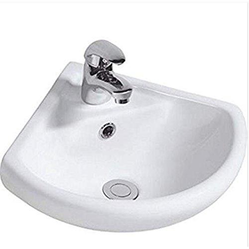 appesa alla parete ad angolo in ceramica lavandino lavabo 1TAP foro 46cmx24cm