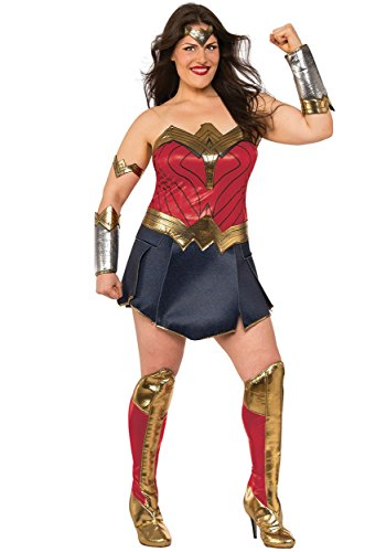 Rubies Justice League Womens Deluxe Costume Plus size, (USA 14 - 16), BUST 40 - 42